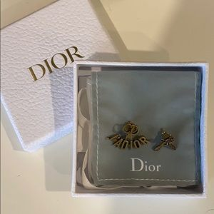 Christian Dior J'Adior Earrings in Antique Gold